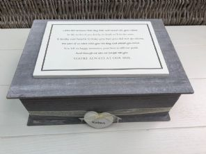 Shabby RUSTIC Chic In Memory Of HUSBAND Personalised LARGE MEMORY Box ANY NAME - 253501184758